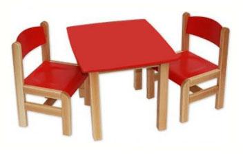Kącik dla dzieci - stolik prostokątny czerwony