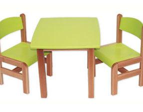 Kącik dla dzieci - stolik prostokątny zielony