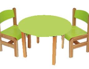Kącik dla dzieci - stolik okrągły zielony