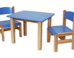 Kącik dla dzieci - stolik prostokątny niebieski