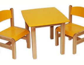 Kącik dla dzieci - stolik prostokątny żółty
