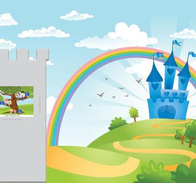 """Kącik dla dzieci - Tapeta - """"Zamek"""""""